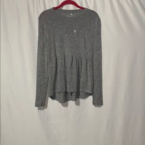 Girls Grey Abercrombie shirt